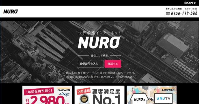 NURO光は光回線方式